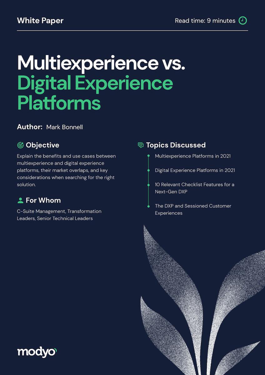 Multiexperience vs. Digital Experience Platforms