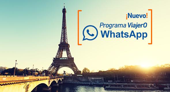 ¡Conectado en 64 países! Conoce el nuevo Programa Viajero WhatsApp