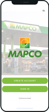 Mapco cellphone in the download app button