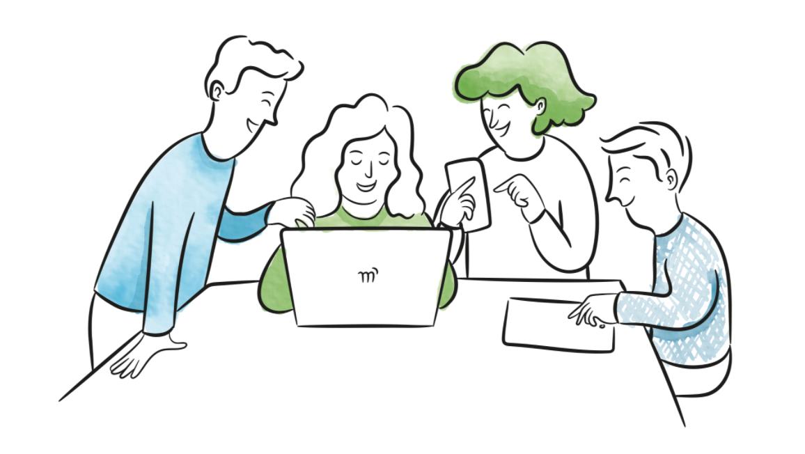 Illustration of team work