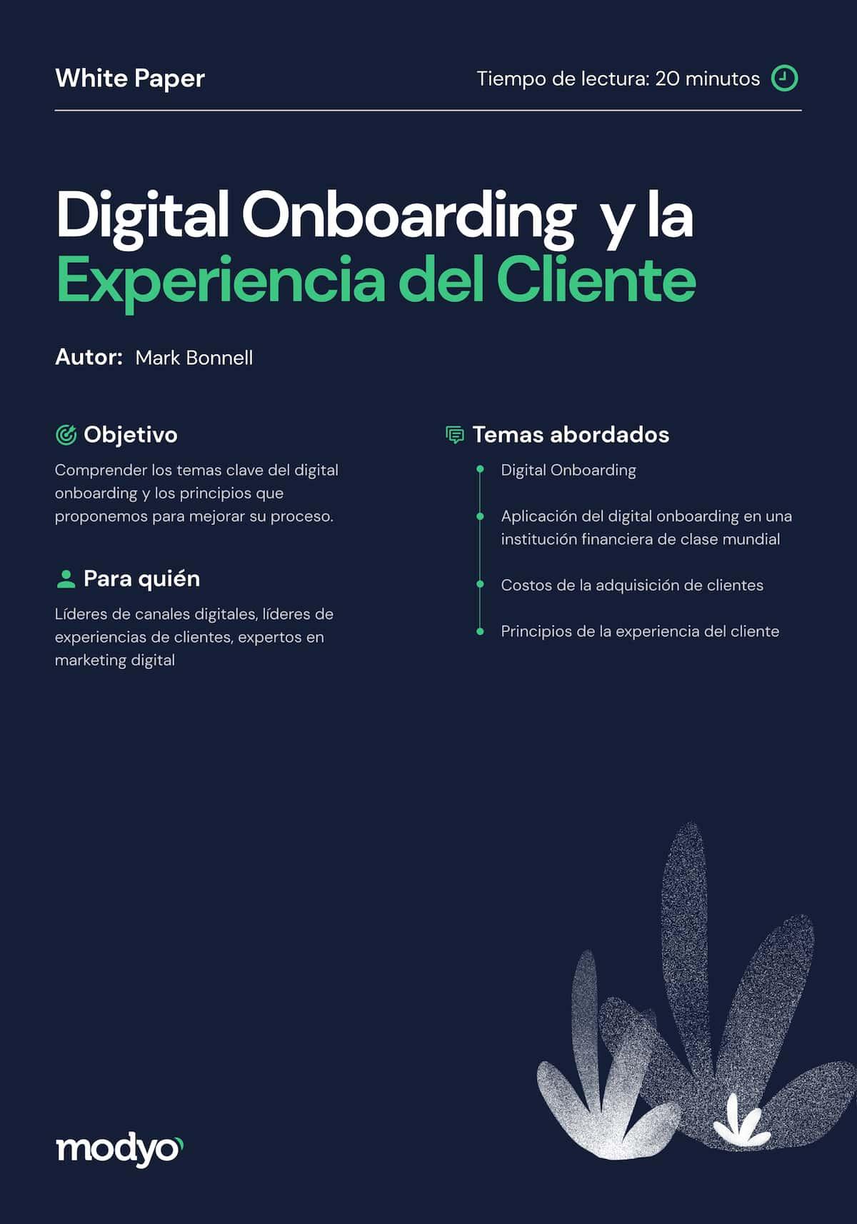 Digital Onboarding y la Experiencia del Cliente