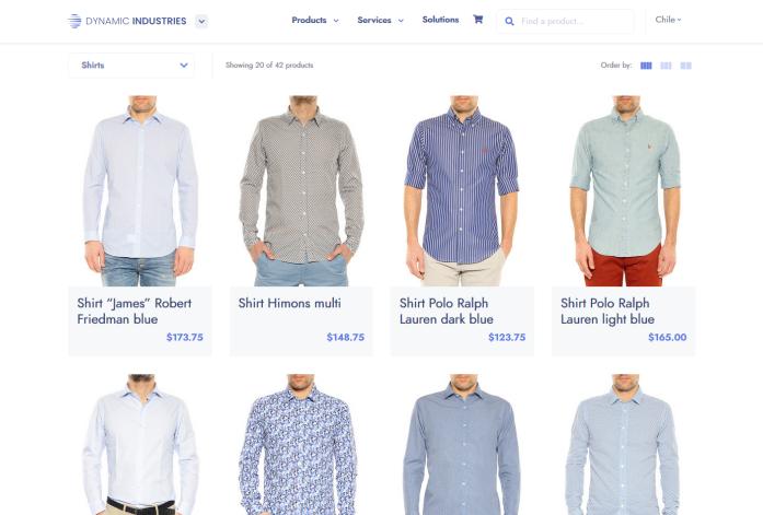 retail website modyo