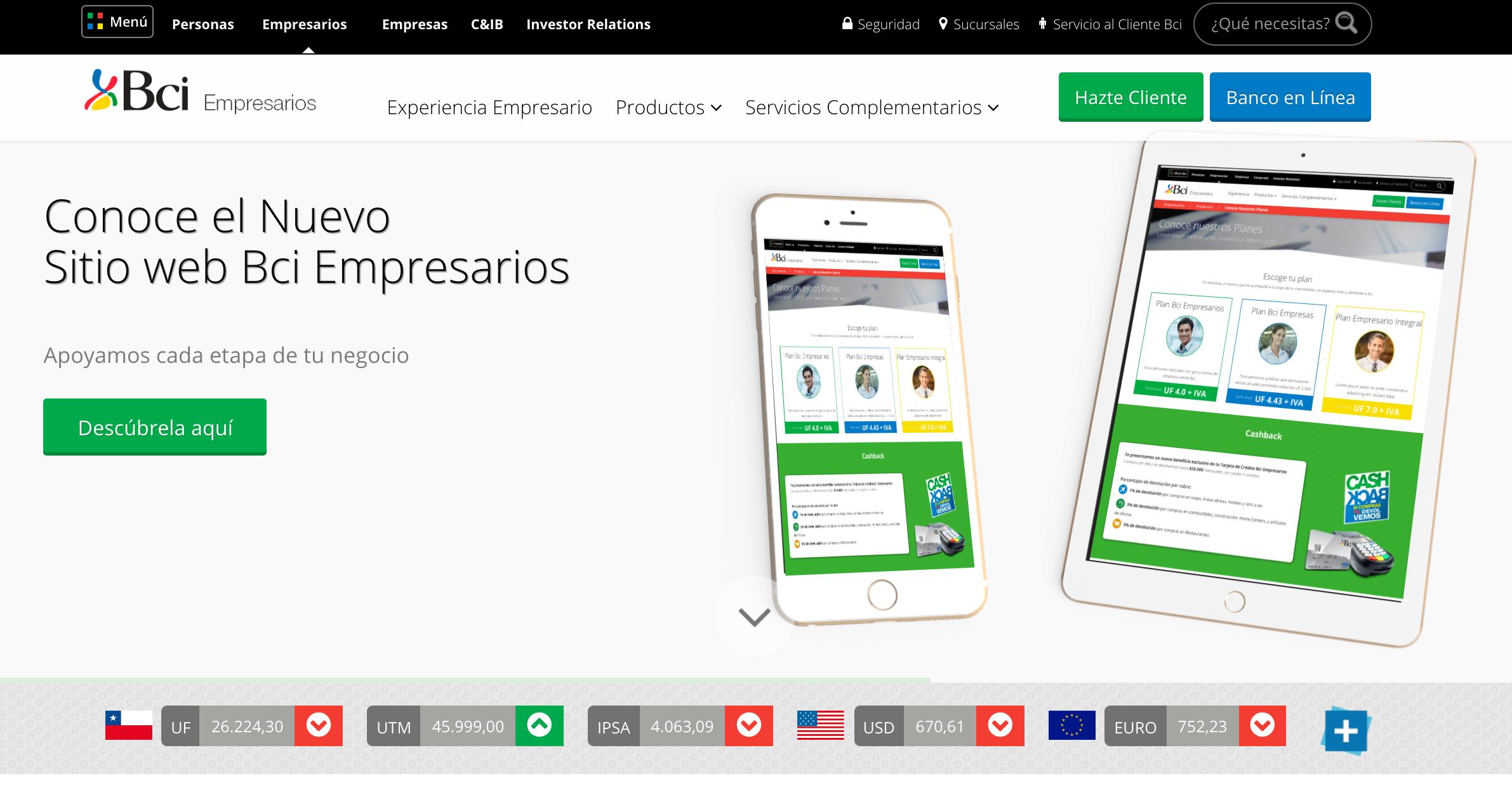 Bci Empresarios and ModyoDX™