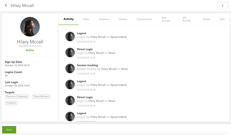 Funcionalidad de perfiles de usuario de la plataforma Modyo