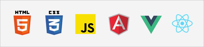 Íconos de HTML5, CSS3, JavaScript, Angular, Vue y Ionic
