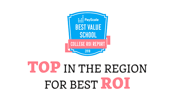 Best Value School - Top in the Region for Best ROI - PayScale