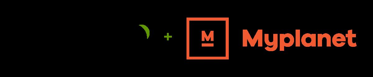 Modyo logo and Myplanet logo together