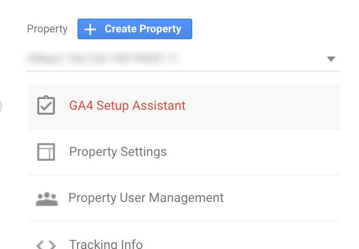 google analytics 4 create property select ga4 setup assistant